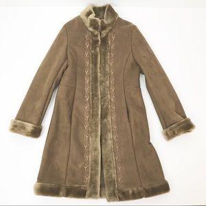 New York & Company Penny Lane Embroidered Coat Vtg